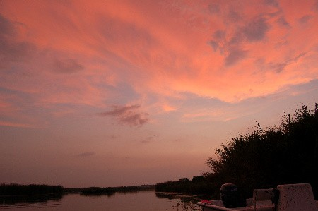 Red sky over Dularge