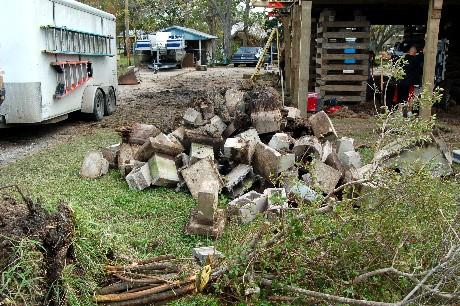 Camp Dularge Debris