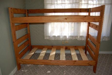 Back bunk bed