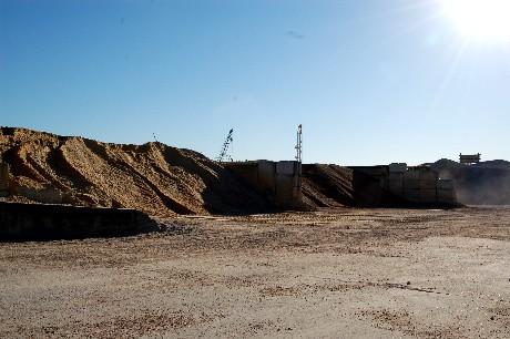 Sand, gravel, limestone
