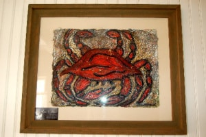 Crab pulp painting