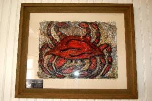 Crab pulp painting