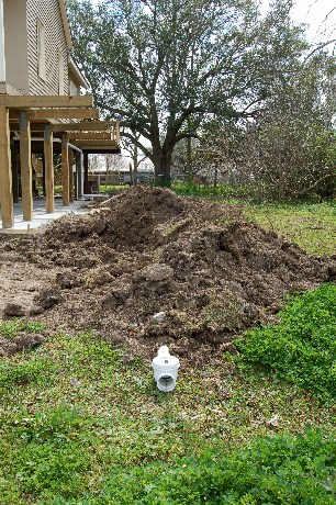 Yard soil