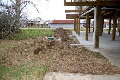 Messy drain field