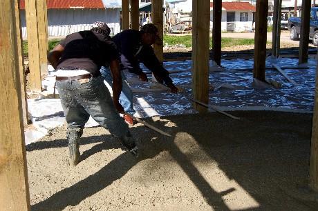Pulling concrete