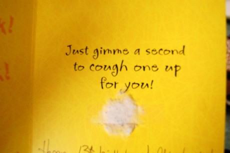 birthday card inside