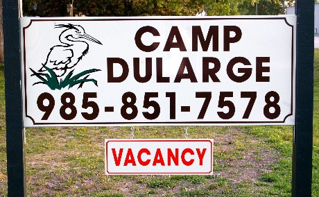 Camp Dularge Sign