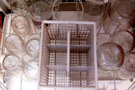Jars in dishwasher