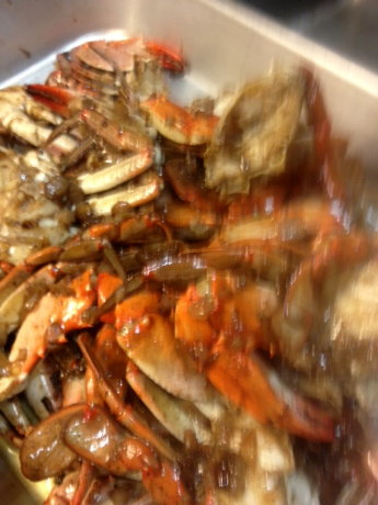 Bayou-licious crabs ready to eat