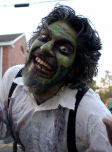 Jonathan Foret - Head Zombie at the Rougarou.Fest