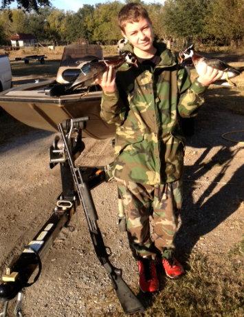 A boy, his gun, and his ducks - Paulette's Photo