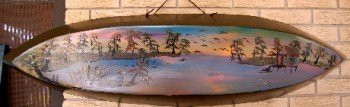 Painting on Cypress Wood