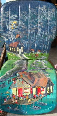 Painting on old metal chair