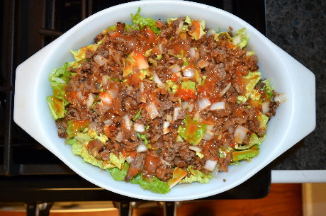 Cabbage Casserole layered
