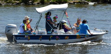 Sport Fishing Boat enjoying the Boat Blessing Parade