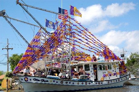 Double-rigger Shrimp Boat - Blessing of the Fleet 2012