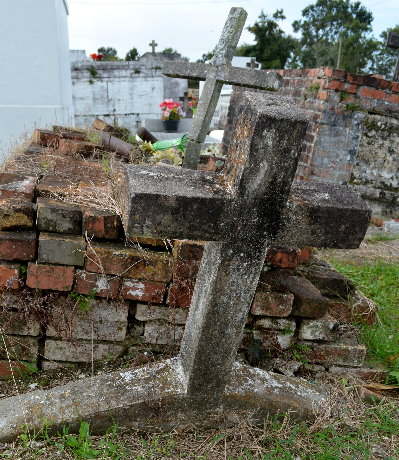 Old Grave in St. Eloi Cemetery, Theriot, LA