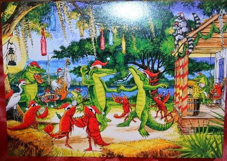 Alligator Christmas Card