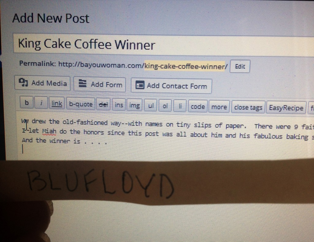King Cake Coffee Winner