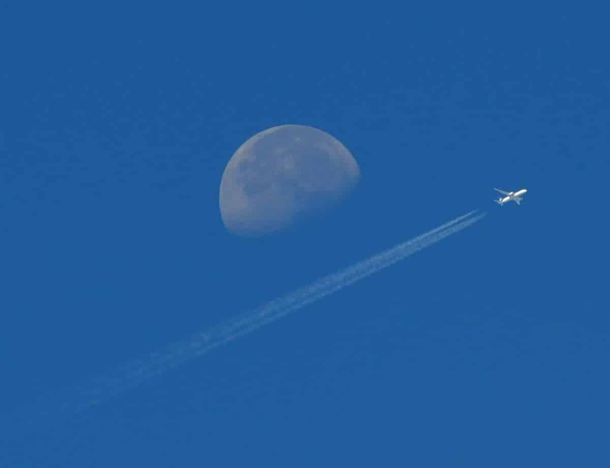 Moon and Jet