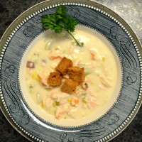 Bisque topped with fresh croutons